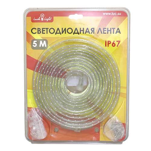 Светодиодная лента Luck&Light, 5 метров, цвет: белыйL&L-60N5MГибкая светодиодная лента с высокой степенью защиты предназначена для декоративного освещения вне помещений. С помощью отдельных сегментов (1 м, 2 м, 5 м), оснащенных надежным винтовым соединением, Вы легко соберете конструкцию необходимой длины. Лента укомплектована набором для крепления к поверхности. Блок питания приобретается отдельно.