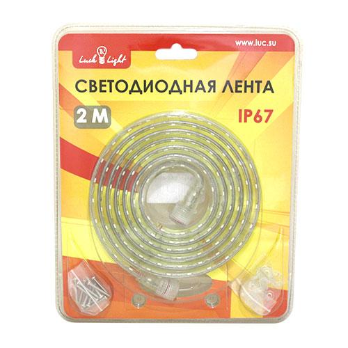 Светодиодная лента Luck&Light, 2 метра, цвет: белыйL&L-60N2MГибкая светодиодная лента с высокой степенью защиты предназначена для декоративного освещения вне помещений. С помощью отдельных сегментов (1 м, 2 м, 5 м), оснащенных надежным винтовым соединением, Вы легко соберете конструкцию необходимой длины. Лента укомплектована набором для крепления к поверхности. Блок питания приобретается отдельно.
