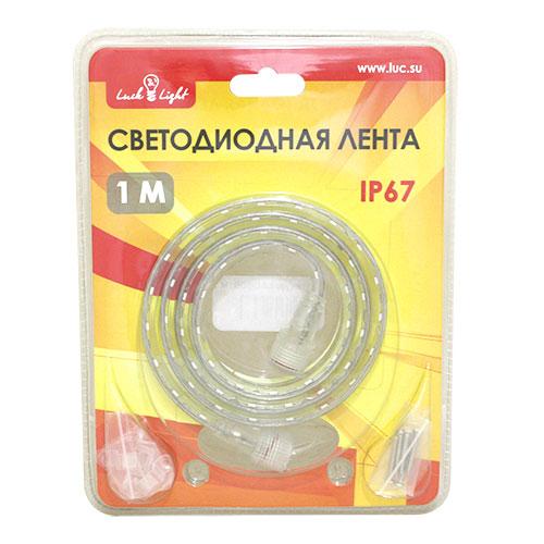 Светодиодная лента Luck&Light, 1 метр, цвет: белыйL&L-60N1MГибкая светодиодная лента с высокой степенью защиты предназначена для декоративного освещения вне помещений. С помощью отдельных сегментов (1 м, 2 м, 5 м), оснащенных надежным винтовым соединением, Вы легко соберете конструкцию необходимой длины. Лента укомплектована набором для крепления к поверхности. Блок питания приобретается отдельно.