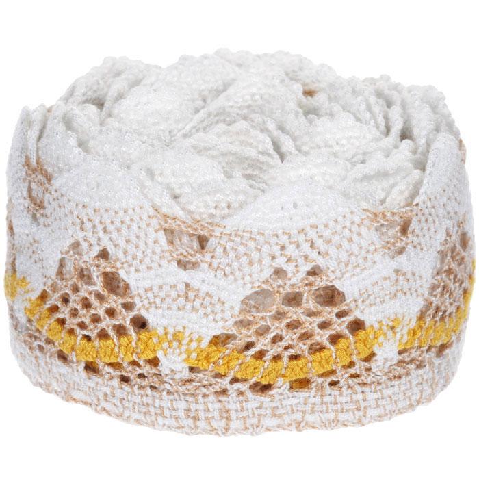 Тесьма вязаная Schaefer, ажурная, цвет: бежевый, желтый, 5 м х 6,5 см. 2110033121100331Ажурная вязаная тесьма Schaefer - имитация ручного вязания крючком. Она изготовлена из высококачественного полиакрила. Благодаря классическому дизайну тесьмы вы можете использовать ее и в одежде и текстильных изделиях для дома.