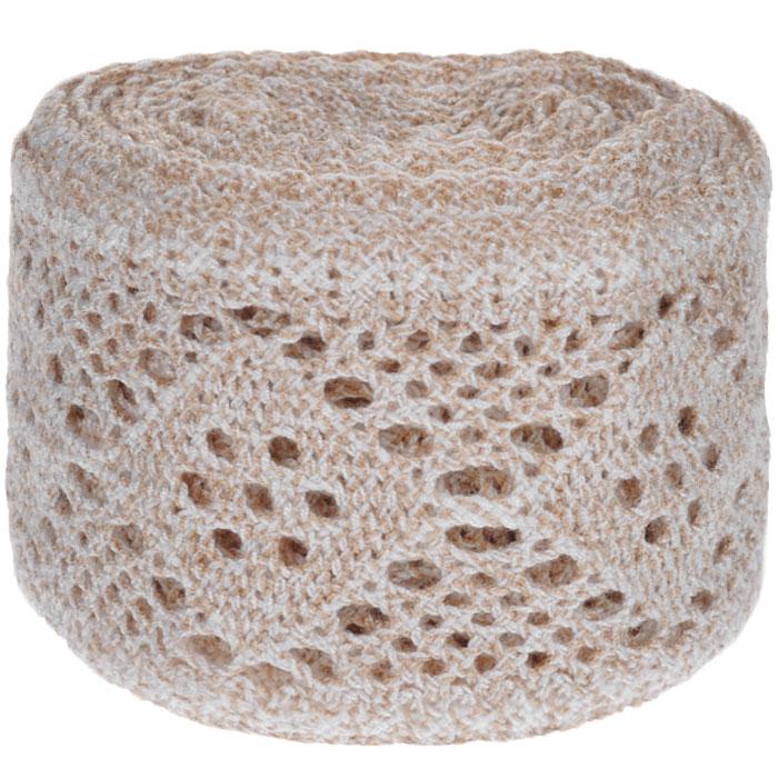 Тесьма вязаная Schaefer, ажурная, цвет: бежевый, желтый, 5 м х 8,5 см. 2110014221100142Ажурная вязаная тесьма Schaefer - имитация ручного вязания крючком. Она изготовлена из высококачественного полиакрила. Благодаря классическому дизайну тесьмы вы можете использовать ее и в одежде и текстильных изделиях для дома.