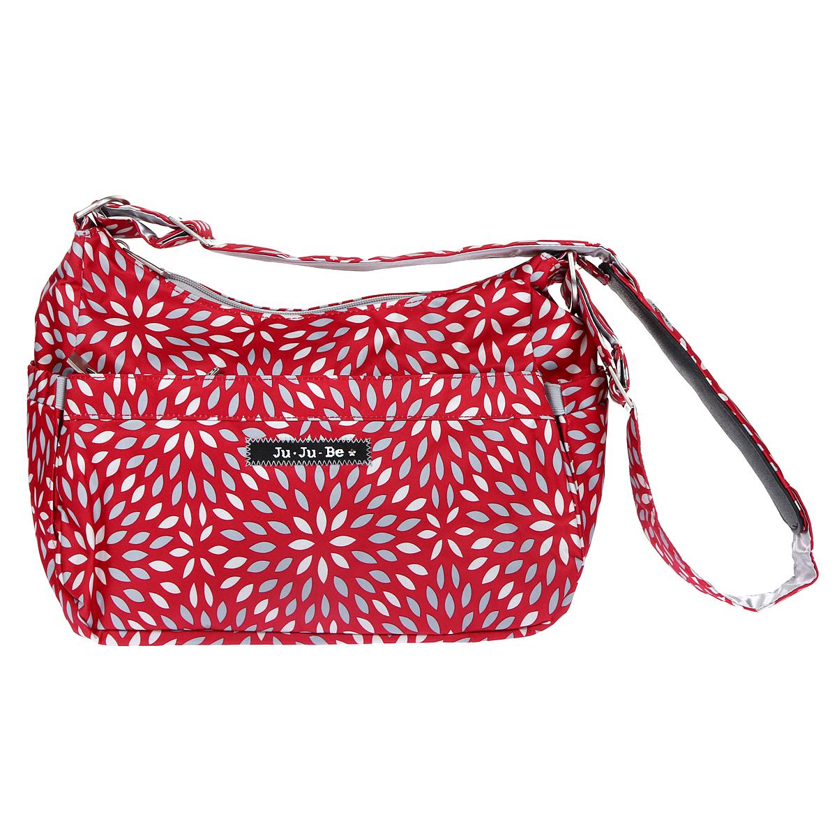"""Сумка для мамы Ju-Ju-Be """"HoboBe Scarlet Petals"""", цвет: красный, серебристый - 1"""