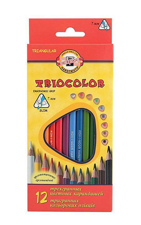"Koh-i-Noor Цветные карандаши ""Triocolor"", 12 цветов 3132/12"