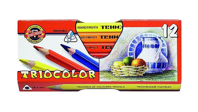 Цветные карандаши Triocolor, художественные, 12 цветов. 3152/12 KS3152/12 KSЦветные художественные карандаши Triocolor непременно, понравятся вашему юному художнику. Набор включает в себя 12 ярких насыщенных цветных карандашей, которые идеально подходят для малышей. Эргономичный трехгранный утолщенный корпус изготовлен из натуральной древесины. Карандаши имеют прочный неломающийся грифель, не требующий сильного нажатия и легко затачиваются. Порадуйте своего ребенка таким восхитительным подарком!