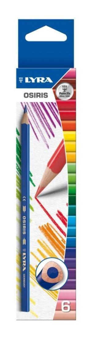 Цветные карандаши Lira Osiris, 6 цветовL2521060Цветные карандаши Lyra Osiris непременно понравятся вашему юному художнику. Набор включает в себя 6 ярких насыщенных неоновых цветных карандаша. Имеют эргономичную округло-треугольную форму, которая подходит для раннего развития ребенка. Карандаши изготовлены из натурального сертифицированного дерева, экологически чистые. Имеют ударопрочный неломающийся высоко пигментный грифель, не требующий сильного нажатия. Легко затачиваются. Порадуйте своего ребенка таким восхитительным подарком! В комплекте: 6 карандашей.