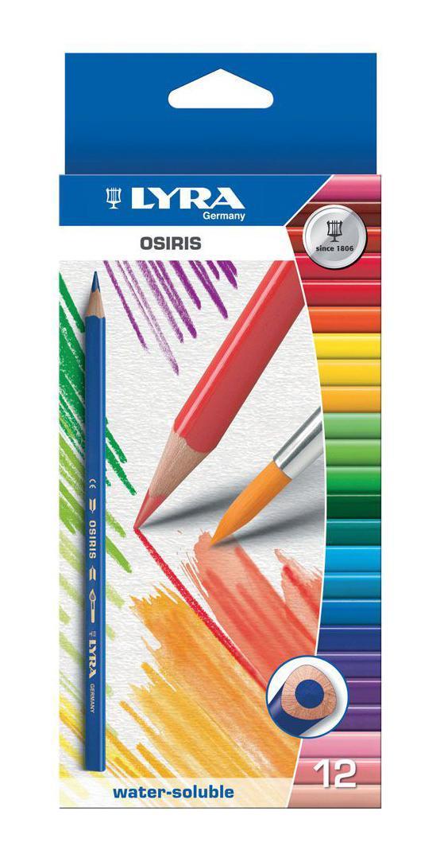 Цветные карандаши Lyra Osiris Aquarell, акварельные, 12 цветовL2531120Цветные карандаши Lyra Osiris Aquarell непременно, понравятся вашему юному художнику. Набор включает в себя 12 ярких насыщенных цветных акварельных карандаша треугольной формы для удобного захвата. Идеально подходят для школы. Карандаши изготовлены из дерева, экологически чистые. Имеют прочный неломающийся грифель, не требующий сильного нажатия и легко затачиваются. Порадуйте своего ребенка таким восхитительным подарком! В комплекте: 12 карандашей.