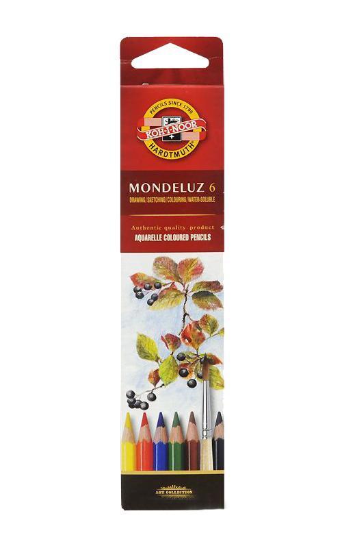 Карандаши цветные акварельные Mondeluz, 6 цветов3715006001KSRUЦветные акварельные карандаши Mondeluz прекрасно подойдут юным художникам. Очень яркие пигменты грифелей почти полностью растворимы в воде. Цветные карандаши предоставляют в распоряжение художника потрясающую палитру цветов - от насыщенных матовых тонов до почти прозрачных оттенков. Для получения контуров и затушевки нужных частей рисунка достаточно обмакнуть в воду кисточку: и c ее помощью вы сможете смешивать цвета в любых желаемых комбинациях. Игра света и тени, блеск и яркость цветов этих карандашей восхищают!