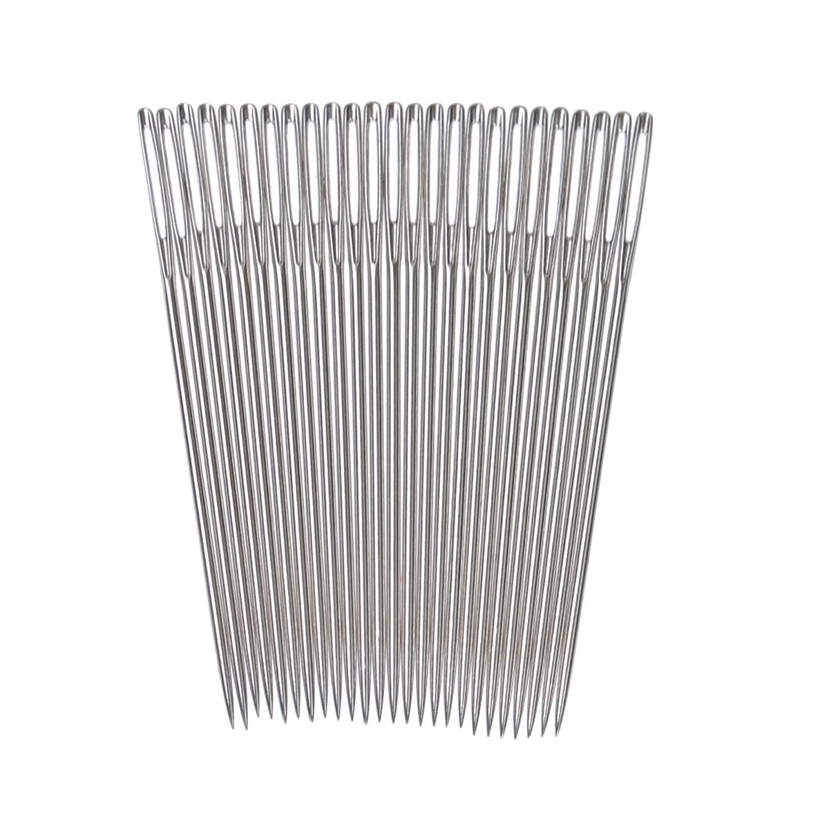 Иглы ручные Prym, для вышивки с острием, №22, 25 шт124138Ручные иглы Prym, изготовленные из стали, предназначены для вышивки по ткани. Иглы имеют острие и ушко.