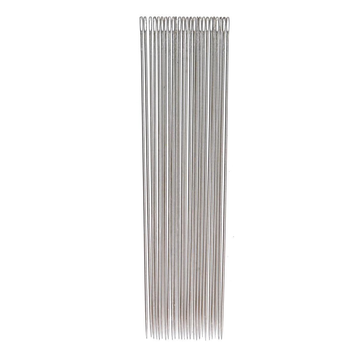 Иглы ручные Prym для бисера, №10, 25 шт124377Ручные иглы Prym, изготовленные из стали высокого качества с ушком, предназначены для вышивания бисером. Иглы очень тонкие, длинные и с острым острием.