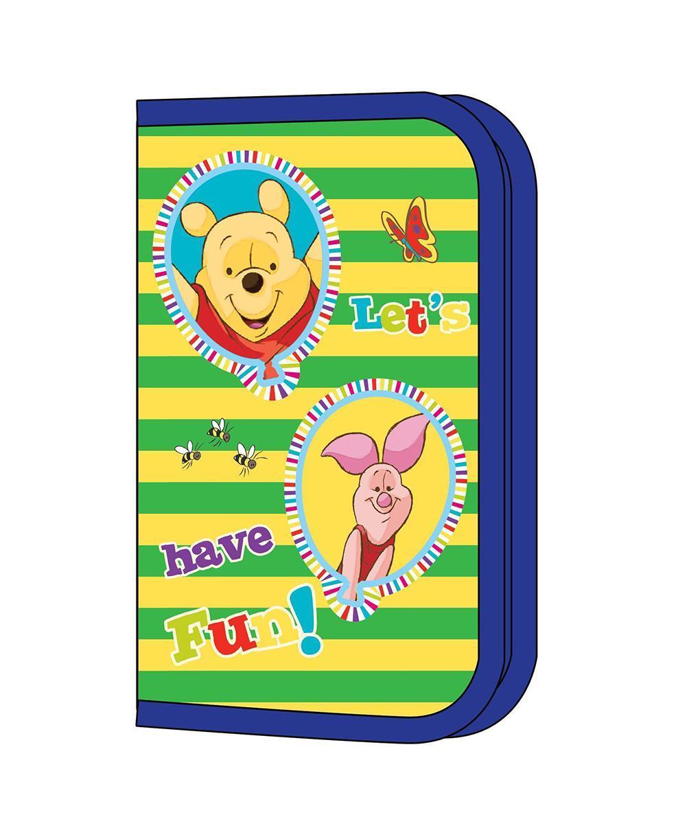 Пенал односекционный Привет, Винни!, цвет: синий, желтый, зеленый22516Яркий пенал Привет, Винни! предназначен для хранения ручек, линеек, карандашей и прочих канцелярских принадлежностей. Он выполнен из твердого плотного ламинированного картона с эффектом конгрева (с выпуклыми картинками) и полиэстера и оформлен изображением всеми любимых друзей - Винни-Пуха и Пятачка. Пенал содержит одно отделение с фиксаторами для карандашей, ручек и линеек и закрывается на застежку-молнию. Пенал Привет, Винни! станет для вашего ребенка лучшим помощником в получении знаний и скрасит долгие часы школьных занятий. Характеристики: Материал: картон, текстиль, пластик, металл. Размер пенала: 19,5 см х 11 см х 3 см.
