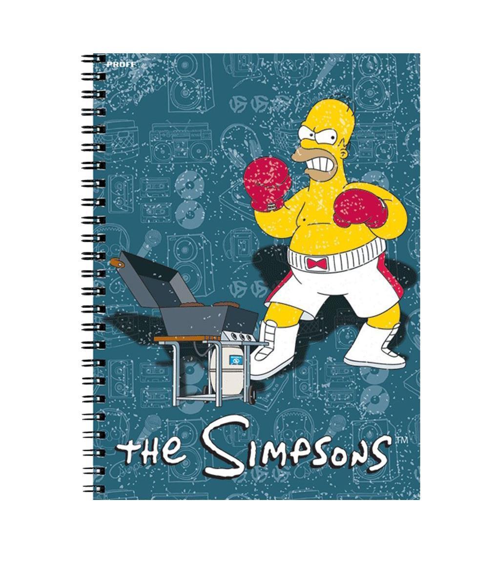 Тетрадь Proff The Simpsons офсет/твердая глянцевая ламинированная обложка/евроспираль27964