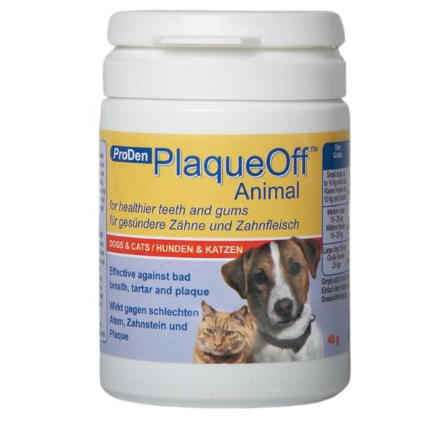 Средство для профилактики зубного камня ProDen PlaqueOff, для кошек и собак, 40 г513066Средство для профилактики зубного камня ProDen PlaqueOff - это натуральный продукт, содержащий особый тип морских водорослей - Algae D1070 (Ascophyllum nodosum). Препарат выпускается в гранулированной форме, что очень удобно для ежедневного добавления в пищу питомца. ProDen PlaqueOf не содержит искусственных красителей, консервантов, глютена и сахара. Морская водоросль богата витаминами и минералами. В ее состав входят 12 важных витаминов, 13 минералов и микроэлементов; кроме того, водоросль богата натуральным йодом. Положительный эффект достигается благодаря ингредиентам, которые усваиваются в процессе пищеварения и выделяют в слюну вещества, предотвращающие образование зубного налета, а также способствуют более легкому механическому очищению зубного камня. Клинические испытания на людях показали, что отложение зубного налета на эмали зубов уменьшается на 88%, а существующий зубной камень исчезает или размягчается. Согласно проведенным исследованиям, результат становится...