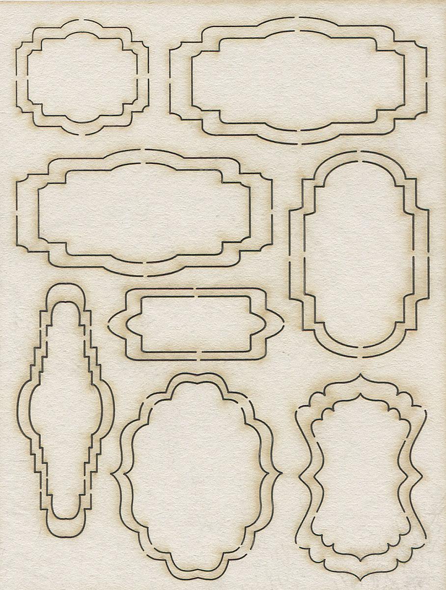 Чипборд Фигурные рамки №1. АМ817006AM817006Чипборд Фигурные рамки №1 изготовлен из плотного картона. Его отличие от простого картона в толщине и в том, что он ломается при сгибании. Элементы в виде фигурных рамок (8 штук) предназначены для дальнейшего декорирования. Чипборд активно используется в технике скрапбукинг для украшения скрап-страничек, фотоальбомов, блокнотов, дневников и т.д., а также для оформления подарочных коробок и конвертов.