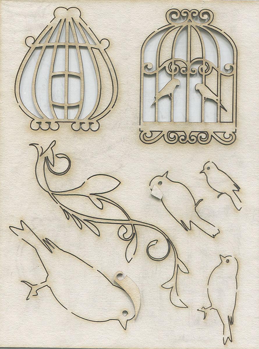 Чипборд Клетки, птицы, орнамент. АМ817001AM817001Чипборд Клетки, птицы, орнамент изготовлен из плотного картона. Его отличие от простого картона в толщине и в том, что он ломается при сгибании. Элементы в виде птичек и клеток предназначены для дальнейшего декорирования. Чипборд активно используется в технике скрапбукинг для украшения скрап-страничек, фотоальбомов, блокнотов, дневников и т.д., а также для оформления подарочных коробок и конвертов.