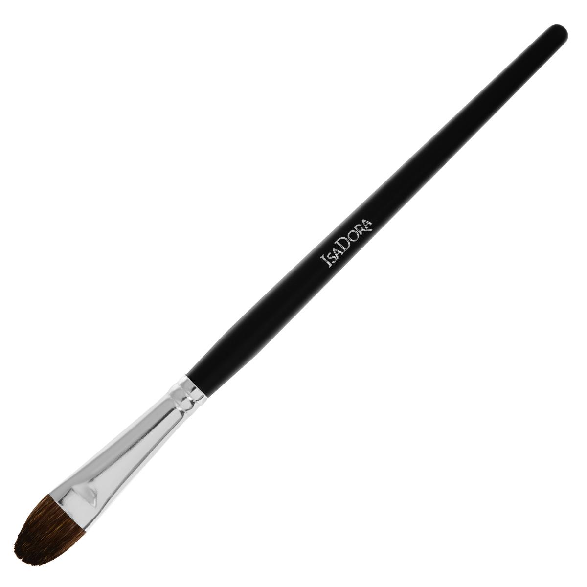 Isa Dora Кисть для теней Eye Shadow Brush Large, большая119103Большая кисть для теней Isa Dora Eye Shadow Brush Large - незаменимый инструмент для создания идеального макияжа глаз. Кисть имеет оптимальный размер и форму для эффективной и равномерной растушевки теней, позволяет создать плавные переходы цвета. Кисть изготовлена из натурального волоса, стерилизована. Длинная профессиональная ручка выполнена из высококачественного пластика. Товар сертифицирован.