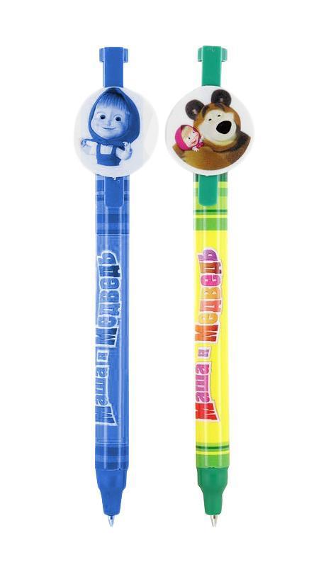 Набор шариковых ручек Маша и Медведь, цвет: синий, 2 шт15293
