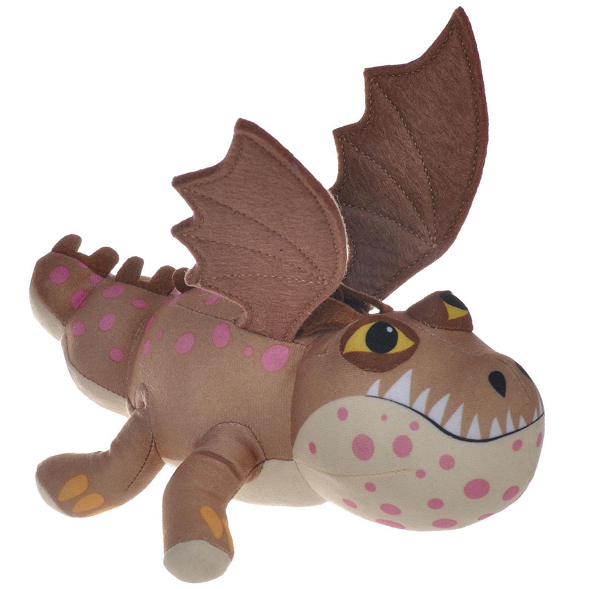 Мягкая игрушка Dragons Громмель, цвет: бежевый, коричневый, светло-желтый, 21 см66572_бежевыйМягкая плюшевая игрушка Dragons Громмель вызовет улыбку у каждого, кто ее увидит. Игрушка выполнена из приятного на ощупь текстильного материала в виде дракона - точной копии дракона из мультфильма Как приручить дракона 2. У игрушки маленькая голова, длинный хвост и большие крылья. Эта забавная игрушка принесет радость и подарит своему обладателю мгновения приятных воспоминаний. Такая игрушка станет отличным подарком вашему ребенку!