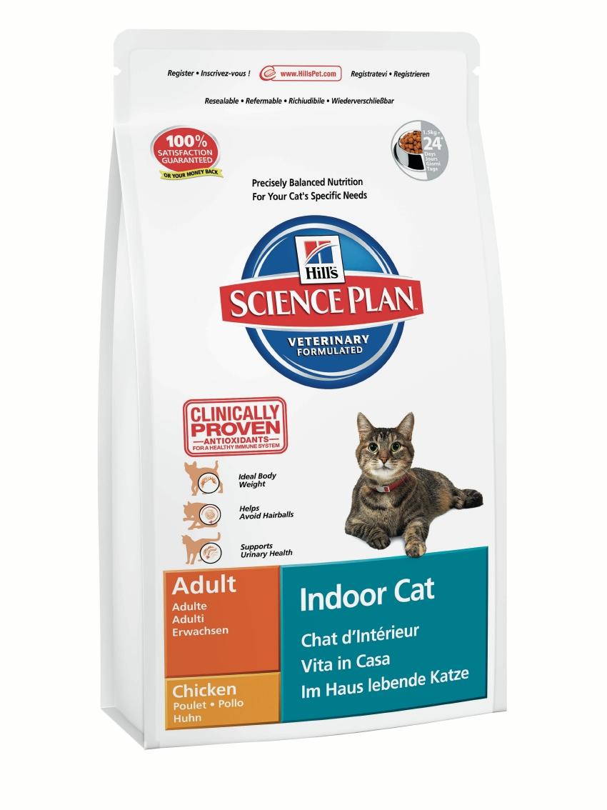 Корм сухой Hills Indoor Cat для кошек домашнего содержания, с курицей, 1,5 кг7524Сухой корм Hills Science Plan Indoor Cat предназначен для кошек в возрасте от 1 года до 6 лет. Это полноценное, точно сбалансированное питание, приготовленное из ингредиентов высокого качества, без добавления красителей и консервантов. Рацион Science Plan содержит эксклюзивный комплекс антиоксидантов с клинически подтвержденным эффектом для поддержки иммунной системы вашего питомца. Рекомендуется взрослым кошкам, живущим в основном, или исключительно в домашних условиях. Корм Science Plan Indoor Cat Adult разработан специально для потребностей кошек, живущих исключительно в домашних условиях. Его формула помогает снизить формирование комков шерсти и обеспечивает эффективный контроль веса тела. Высокий уровень растительных волокон способствует продвижению проглоченных волос через пищеварительную систему, уменьшая их аккумуляцию в комки шерсти и последующую регургитацию или срыгивание. Этот сбалансированный корм со сниженной энергетической ценностью помогает...