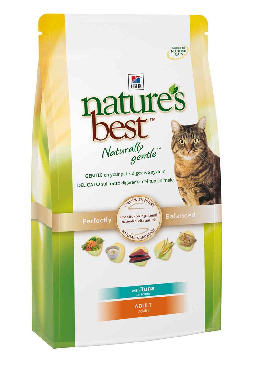 Корм сухой Hills Natures Best для взрослых кошек, с тунцом и овощами, 2 кг4199Корм сухой Hills Natures Best специально разработан для взрослых кошек от 1 года до 6 лет. Идеально сбалансирован, состоит из высококачественных натуральных ингредиентов с добавлением витаминов и минералов, таурина для поддержания нормальной работы сердца и функционирования сетчатки. Корм содержит целебные ингредиенты, включающие тунец, садовые овощи, рис и злаки. Консервирован естественным способом с использованием витамина Е и розмарина для сохранения свежести и отличного вкуса. Не содержит искусственных красителей или вкусовых добавок. Имеет натуральный вкус, который понравится вашему питомцу. Уникальная смесь антиоксидантных витаминов помогает поддерживать здоровой иммунную систему. Состав: с тунцом (минимум 7% тунца), мука из мяса домашней птицы, мука из маисового глютена, животный жир, молотая кукуруза, молотый рис, коричневый рис, мука из тунца, рыбный гидролизат, молотый ячмень, овсяная крупа, гидролизат белка, сухая свекольная пульпа, калия...