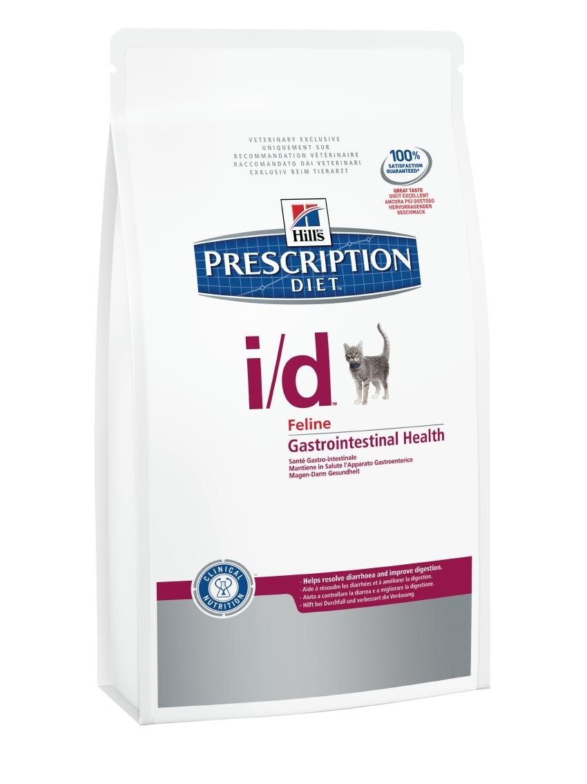 Корм сухой диетический Hills I/D для кошек, для лечения ЖКТ, 400 г5483Сухой корм для кошек Hills I/D - полноценный диетический рацион при острых кишечных абсорбативных расстройствах, для компенсации дефицита нутриентов (питательных веществ), при нарушении пищеварения и экзокринной недостаточности поджелудочной железы у кошек. Рацион содержит повышенный уровень электролитов, ингредиенты высокой биологической ценности и биодоступности и пониженный уровень жира.br> Пониженный уровень жира и обогащение пребиотическими волокнами обеспечивает легкость пищеварения и быстрое восстановление организма после диареи. - Превосходный вкус понравится вашей кошке. - Супер Антиоксидантная формула помогает укрепить иммунную систему. Монодиета. Не требует дополнений. Рекомендации по кормлению: рекомендуемое число кормлений - 2 раза в сутки и более. Для поддержания оптимального веса питомца суточная норма корма, обозначенная на упаковке, требует корректировки в соответствии с размерами животного. Рекомендуемая продолжительность диетотерапии...