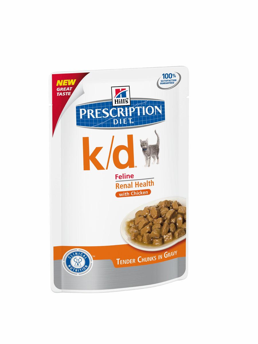 Консервы диетические для кошек Hills K/D, для поддержания функции почек, с курицей, 85 г3405Консервы для кошек Hills K/D - полноценный диетический рацион для кошек для поддержания функции почек при почечной недостаточности. Содержит пониженный уровень фосфора и оптимальный уровень протеинов высокой биологической ценности. Состав: зерновые злаки, мясо и пептиды животного происхождения, рыба и рыбные производные, экстракты растительного происхождения, производные растительного происхождения, различные сахара, масла и жиры, минералы. Источники белка: печень, курица, свиная печень, концентрат белка гороха. Анализ: белок 6,6%, жир 5,1%, клетчатка 0,6%, зола 1,2%, влага 77,3%, кальций 0,17%, фосфор 0,10%, натрий 0,06%, калий 0,19%, магний 0,02%. На кг: витамин Е 170 мг, витамин С 35 мг, бета-каротин 0,5 мг, таурин 574 мг. Добавки на кг: витамин D3 225 МЕ, железо 19,9 мг, йод 0,6 мг, марганец 4,4 мг, цинк 51,2 мг. Окрашено натуральной карамелью. Товар сертифицирован.