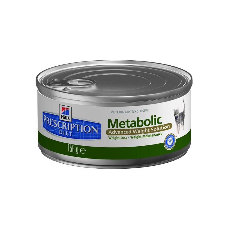 Консервы для кошек Hills Metabolic, диетические, для коррекции веса, 156 г2102Корм консервированный Hills Metabolic - передовая программа контроля веса у кошек. Революционная формула Hills Prescription Diet Metabolic Advanced Weight Solution учитывает индивидуальные потребности каждого питомца. Благодаря последним достижениям в области нутригеномики, новый рацион Hills оптимизирует процесс сжигания жиров на генном уровне. Он позволяет вашему питомцу безопасно и быстро прийти к идеальному весу и надолго сохранить стройность. Ключевые преимущества: - простой, эффективный способ снижения веса, который не требует изменения режима кормления домашнего животного; - клинически доказано: обеспечивает безопасное снижение жировой массы за 2 месяца на 29%; - при отсутствии строгих ограничений или точных измерений домашние животные в среднем снижали вес на 0,7% от исходной массы тела за неделю. Состав: куриная мука, пивоваренный рис, кукурузная клейковина, порошковая целлюлоза, томатный жмых, ...