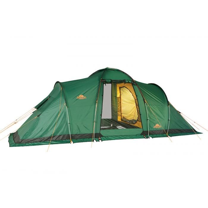 Палатка Alexika Maxima 6 Luxe Green9151.6401Alexika Maxima 6 Luxe - это отличная кемпинговая палатка, которая придется по душе большим компаниям, любящим выбираться на природу. Палатка разделена на 2 внутренние палатки и коридор. Тамбур отличается увеличенными размерами. Это позволяет ему вмещать большое количество багажа. В палатке могут спокойно расположиться на ночевку 6 человек, не испытывая недостатка в площади. По краям внутренних палаток предусмотрены противомоскитные сетки, не позволяющие насекомым нарушить ваш отдых. Материал кемпинговой палатки MAXIMA 6 LUXE пропитан специальным раствором, который в случае возникновения пожароопасных ситуаций задержит распространение огня. Для фиксации молний, которыми оснащен верхний тент, используются алюминиевые крючки. Они не позволяют молниям расходиться. Даже если вы поместите в тамбур большой количество вещей, он всегда будет надежно закрыт. Палатка MAXIMA 6 LUXE отличается хорошо продуманной системой вентиляции, благодаря чему даже в жаркие летние ночи комфортный сон...