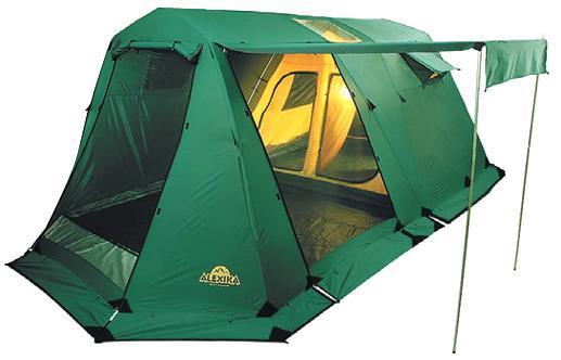 Палатка Alexika Victoria 5 Luxe9155.53015 -ти местная кемпинговая палатка Alexika Victoria 5 Luxe – это то, что нужно для туристического похода большой компанией. Размеры спальных отделений позволяют спокойно спать, не тревожа других туристов, и передвигаться внутри в полный рост. Несмотря на большие размеры палатки , вы легко установите ее практически на любой местности. В палатке имеется три входа, причем вход в тамбур дополнительно защищен большой и плотной антимоскитной сеткой. Она, с одной стороны, обеспечивает хороший приток воздуха, а с другой - спокойный сон без непрошеных гостей. Хорошей вентиляции способствуют и окна в спальных отделениях, которые также защищены антимоскитной сеткой и внешними шторами, закрывающимися на молнию. На крыше расположены два прозрачных окна, пропускающих свет и позволяющихся любоваться ночным звездным небом. Палатка Victoria 5 Luxe изготовлена из очень прочного материала. Тент устойчив к разрывам от воздействия сучков и веток и пропитан...