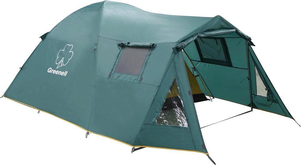 Палатка Greenell Veles 3 v.225493-303-00Каркасно-дуговая кемпингоавя палатка с тамбуром большого полезного объема. Палатка имеет два входа и два тамбура, один большого размера. Вентиляционные окна с сеткой и клапаном на молнии. Возможна установка без тента. Дополнительные преимущества: Карманы; Прозрачные окна; Проклеенные швы; Противомоскитная сетка. Характеристики: Вместимость: 3 человека. Размер палатки в разложенном виде (ДхШхВ): 390 см х 210 см х 145 см. Наружный тент: полиэстер Taffeta 190T, PU 3000 мм. Внутренняя палатка: полиэстер Taffeta 190T дышащий. Дно: Tarpauling, PU 10000 мм. Каркас: дуги из фибергласса диаметром 9,5 мм. Вес: 7060 г. Размер в сложенном виде: 68 см х 22 см х 22 см. Изготовитель: Китай. Артикул: 25493-303-00.