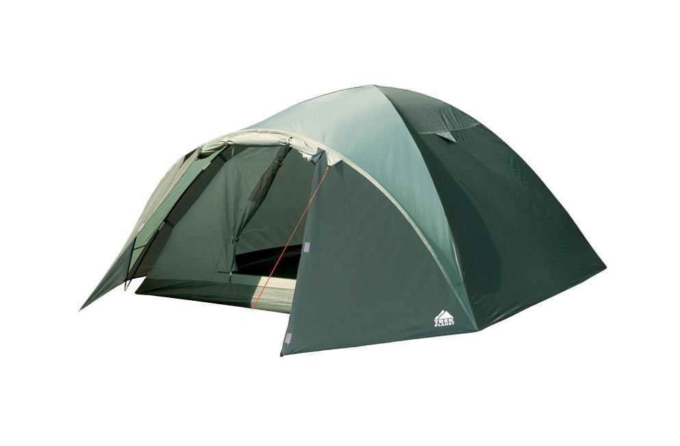 Палатка Trek Planet Denver Air 3 трехместная70176Трехместная палатка куполообразной формы Trek Planet Denver Air 3 с отличной вентиляцией, вместительным тамбуром и двумя входами, отлично подходит для длительного путешествия. Особенности модели: Простая и быстрая установка. Тент палатки из полиэстера, с пропиткой PU водостойкостью 3000 мм, надежно защищает от дождя, все швы проклеены. Дно палатки из прочного полиэстера Oxford водостойкостью 6000 мм. Каркас из жестких, прочных и легких композитных дуг (Durapol). Внутренняя палатка из дышащего полиэстера, обеспечивает вентиляцию помещения и позволяет конденсату испаряться, не проникая внутрь палатки. Два входа во внутреннюю палатку с противоположных сторон тента. Удобная D-образная дверь с москитной сеткой в полный размер на каждом входе во внутреннюю палатку. Вентиляционное окно. Внутренние карманы для мелочей. Возможность подвески фонаря в палатке. Для удобства транспортировки и хранения предусмотрен...