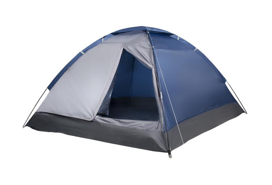 Палатка трехместная Trek Planet Lite Dome 3, цвет: синий, серый70122Однослойная трехместная палатка Trek Planet Lite Dome 3, самая легкая и быстрая в установке. Необходимое количество колышков входит в комплект. Особенности модели: Простая и быстрая установка, Тент палатки из полиэстера, с пропиткой PU водостойкостью 1000 мм, надежно защитит от дождя и ветра, Все швы проклеены, Каркас выполнен из прочного стекловолокна, Дно изготовлено из прочного армированного полиэтилена, Москитная сетка на входе в палатку в полный размер двери, Вентиляционное окно сверху палатки не дает скапливаться конденсату на стенках палатки, Внутренние карманы для мелочей, Возможность подвески фонаря в палатке. Для удобства транспортировки и хранения предусмотрен чехол с двумя ручками, закрывающийся на застежку-молнию. Размер в сложенном виде: 12 см х 12 см х 63 см.