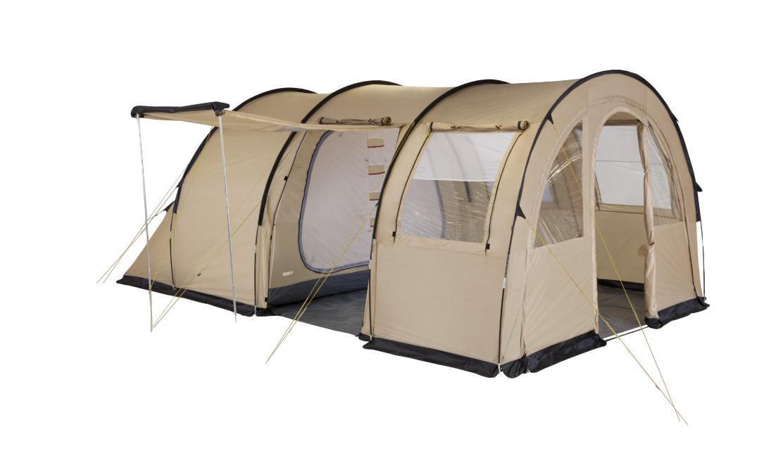 Палатка четырехместная TREK PLANET Vario 4, цвет: песочный70247Четырехместная двухслойная семейная палатка в форме полубочки TREK PLANET Vario 4 с отличной вентиляцией и огромным помещением, позволяющим с комфортом расположиться внутри всей семьей или небольшой компании отдыхающих - отличный выбор для семейного кемпинга и отдыха на природе. ОСОБЕННОСТИ МОДЕЛИ: - Тент палатки из полиэстера с пропиткой PU надежно защищает от дождя и ветра. - Все швы проклеены. - Большое и высокое внутреннее помещение, где свободно размещается кемпинговый стол и стулья на 4-5 человек. - Съемный пол в тамбуре из армированного полиэтилена. - Передняя стенка палатки может быть перестегнута на вторую секцию дуг, образуя козырек перед палаткой, а также может быть снята совсем. - Четыре обзорных окна со шторкой во внутреннем помещении, совмещенные с вентиляционными окнами. - Защитная юбка из армированного полиэтилена по периметру внутреннего помещения. - Большой выносной козырек на металлических стойках. - Дуги из...