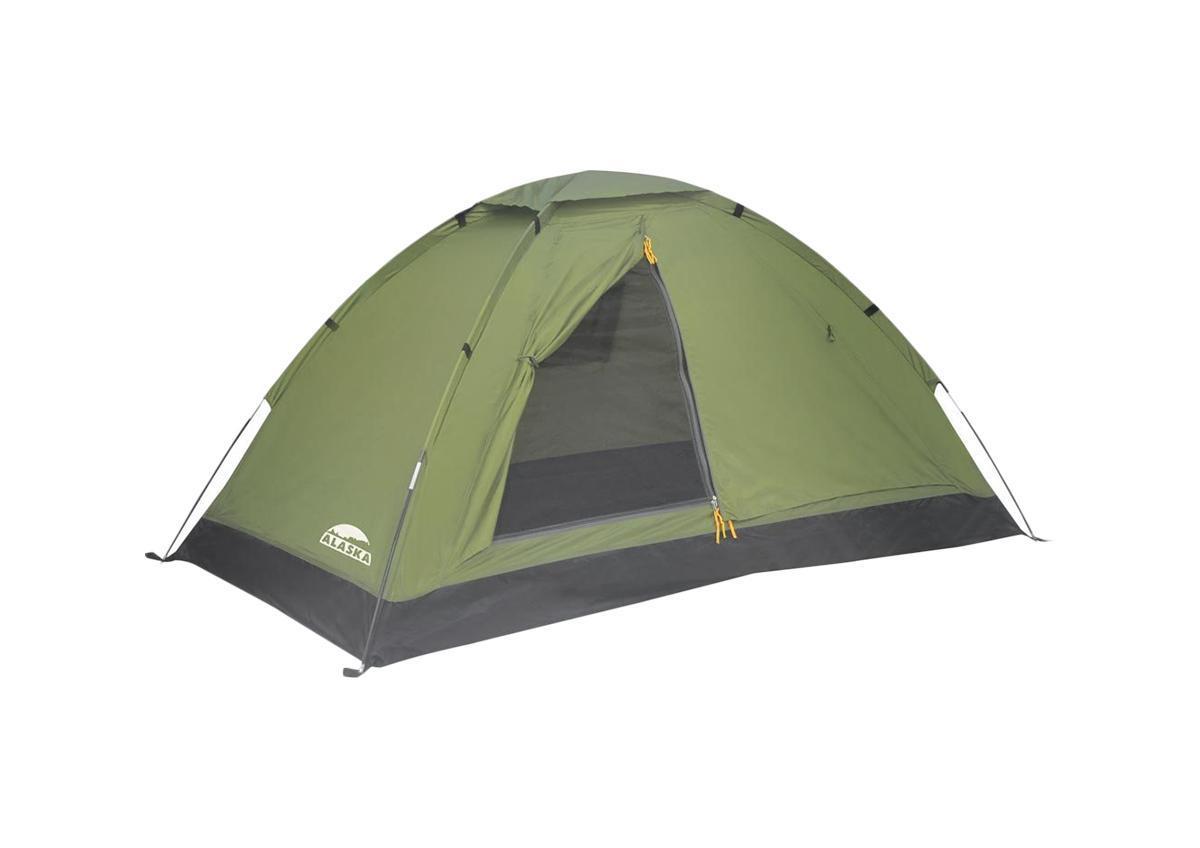 Палатка Alaska Моби 2 Olive26050-516-00Легкая однослойная палатка для частой смены лагеря Компактная и лёгкая однослойная палатка, имеющая хорошую вентиляцию за счет верх- него клапана и вентиляционного окна напротив двери. Пол с высоким порогом, выполнен из полиэстера с PU 3000, что обеспечивает надёжную защиту от влаги. Собранную палатку легко перемещать с места на место, а в случаи необходимости можно закрепить с помощью штормовых оттяжек. Размер палатки: 200 см х 120 см х 100 см.