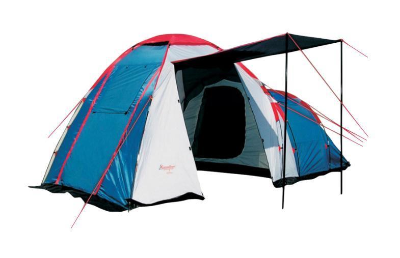 Палатка CANADIAN CAMPER HYPPO 3 (цвет royal)30300022Палатка Canadian Camper HYPPO 3 - просторная кемпинговая палатка с нестандартной геометрией. Первое высокое (180 см) помещение - тамбур - имеет три входа, которые можно использовать в качестве козырьков. В нем легко помещается стол и три стула. Спальное отделение пониже, рассчитано на троих человек, имеет еще один вход. И тамбур и внутреннее помещение имеют вентиляционные окна. Два входа во внутреннее помещение и окна занавешиваются москитными сетками. Также москитная сетка есть у одной двери тамбура, у двух других - сетки на окнах. Внутри есть кольцо для подвешивания лампы или фонаря, карманы для мелочей. Для предотвращения проникновения насекомых предусмотрена юбка по всему периметру. Инструкция по сборке вшита в сумку-чехол для палатки. Палатка Canadian Camper HYPPO 3 обладает солидным запасом прочности и надежности: проклеенные швы, дуги выполнены из фибергласа, тент из полиэстера с высокой водостойкостью (4000 мм. вод. ст.), огнеупорной пропиткой и защитой от...
