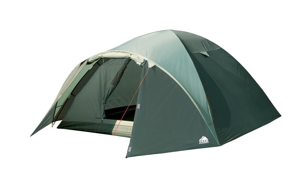 Палатка Trek Planet Arisona 4 четырехместная70174Четырехместная палатка куполообразной формы Trek Planet Arisona 4 с хорошей вентиляцией и вместительным тамбуром, подходит для длительного путешествия. Особенности модели: Простая и быстрая установка. Тент палатки из полиэстера, с пропиткой PU водостойкостью 3000 мм, надежно защищает от дождя, все швы проклеены. Дно палатки из прочного полиэстера Oxford водостойкостью 6000 мм. Каркас из жестких, прочных и легких композитных дуг (Durapol). Внутренняя палатка из дышащего полиэстера, обеспечивает вентиляцию помещения и позволяет конденсату испаряться, не проникая внутрь палатки. Вентиляционное окно. Удобная D-образная дверь с москитной сеткой в полный размер двери на входе во внутреннюю палатку. Внутренние карманы для мелочей. Возможность подвески фонаря в палатке. Для удобства транспортировки и хранения предусмотрен чехол с двумя ручками, закрывающийся на застежку-молнию. Trek Planet - проверенный...