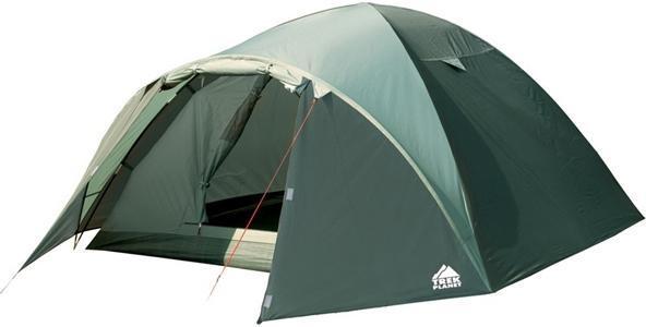 Палатка Trek Planet Denver Air 2 двухместная70175Двухместная палатка куполообразной формы Trek Planet Denver Air 2 с отличной вентиляцией, вместительным тамбуром и двумя входами, отлично подходит для длительного путешествия. Особенности модели: Простая и быстрая установка. Тент палатки из полиэстера, с пропиткой PU водостойкостью 3000 мм, надежно защищает от дождя, все швы проклеены. Дно палатки из прочного полиэстера Oxford водостойкостью 6000 мм. Каркас из жестких, прочных и легких композитных дуг (Durapol). Внутренняя палатка из дышащего полиэстера, обеспечивает вентиляцию помещения и позволяет конденсату испаряться, не проникая внутрь палатки. Два входа во внутреннюю палатку с противоположных сторон тента. Удобная D-образная дверь с москитной сеткой в полный размер на каждом входе во внутреннюю палатку. Вентиляционное окно. Внутренние карманы для мелочей. Возможность подвески фонаря в палатке. Для удобства транспортировки и хранения предусмотрен...