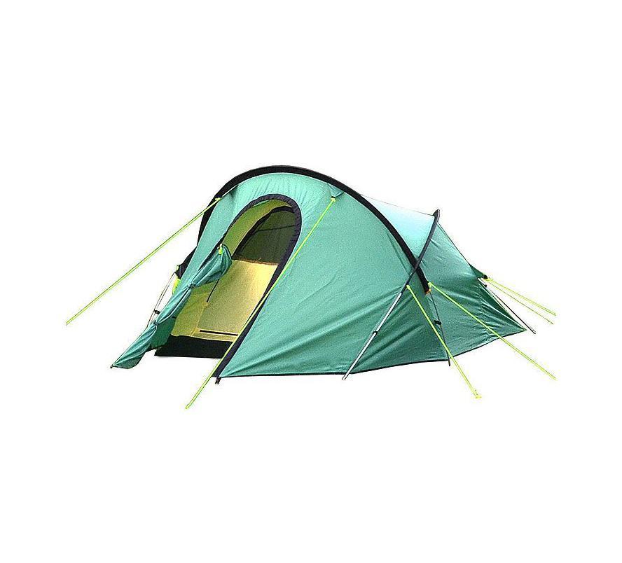 Палатка Campland Polar 2 GreenPolar2Палатка двухместная туристическая CAMPLAND POLAR отлично подайдет для велотуристов и путешественников. Палатка оснащена противомоскитной сеткой и вентиляционным окном. Проклеенные швы. Это двухслойная палатка, ветроустойчивой конструкции. Двухслойность подразумевает не состав материала, а то что есть внутренняя палатка и тент сверху.