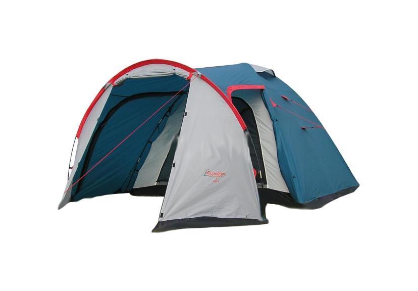 Палатка CANADIAN CAMPER RINO 3 (цвет royal)30300016Туристическая палатка Canadian Camper Rino 3 состоит из двух частей - внешнего тента и внутренней палатки. Из-за своей вместительности при внешней компактности и отличной водостойкости эта палатка пользуется стабильной популярностью у сторонников отдыха на природе. Каркас из стекловолокна располагается снаружи внешнего тента. У палатки два входа, которые ведут во вместительный тамбур. Шторы над входами закрепляются на фибергласовых стойках и превращаются в козырек. Входы и огромные окна палатки надежно защищены антимоскитными сетками. Палатка очень проста в установке.