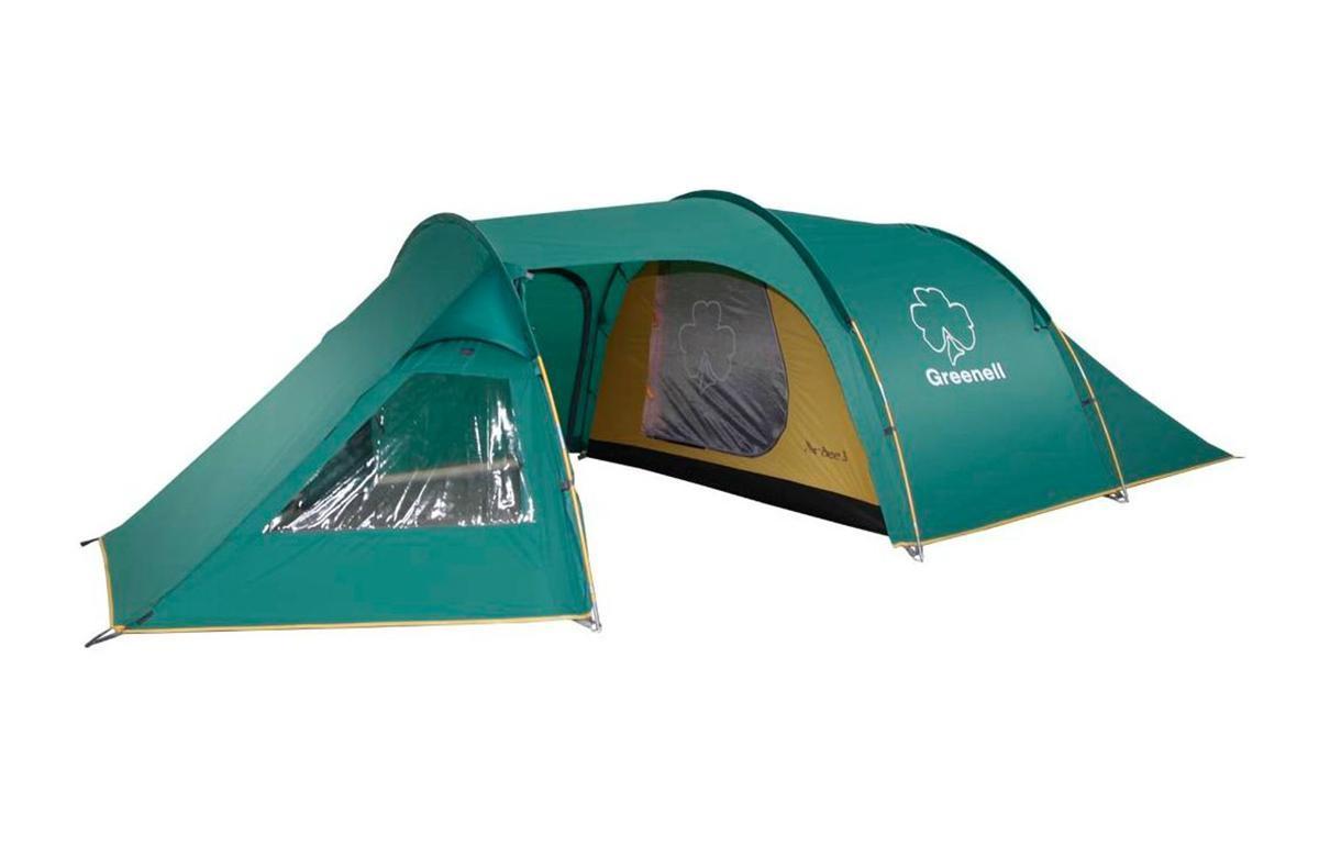 Палатка Greenell Арди 3 Green25583-303-00Легкая просторная палатка туристическая 3 х местная полубочка. Классическая конструкция полубочкой. Имеет большую обитаемость и низкий вес. Три входа и большой тамбур. Одно спальное отделение. Большие окна. Возможна отдельная установка тента. Дополнительные преимущества: Проклеенные швы тента; Противомоскитная сетка; Карманы; Прозрачные окна. Характеристики: Вместимость: 3 человека. Размер палатки в разложенном виде (ДхШхВ): 460 см х 220 см х 120 см. Наружный тент: полиэстер Taffeta 190T, PU 3000 мм. Внутренняя палатка: полиэстер Taffeta 190T дышащий. Дно: Tarpauling, PU 10000 мм. Каркас: дуги из фибергласса. Вес: 5300 г. Размер в сложенном виде: 64 см х 22 см х 22 см. Изготовитель: Китай. Артикул: 25583-303-00.
