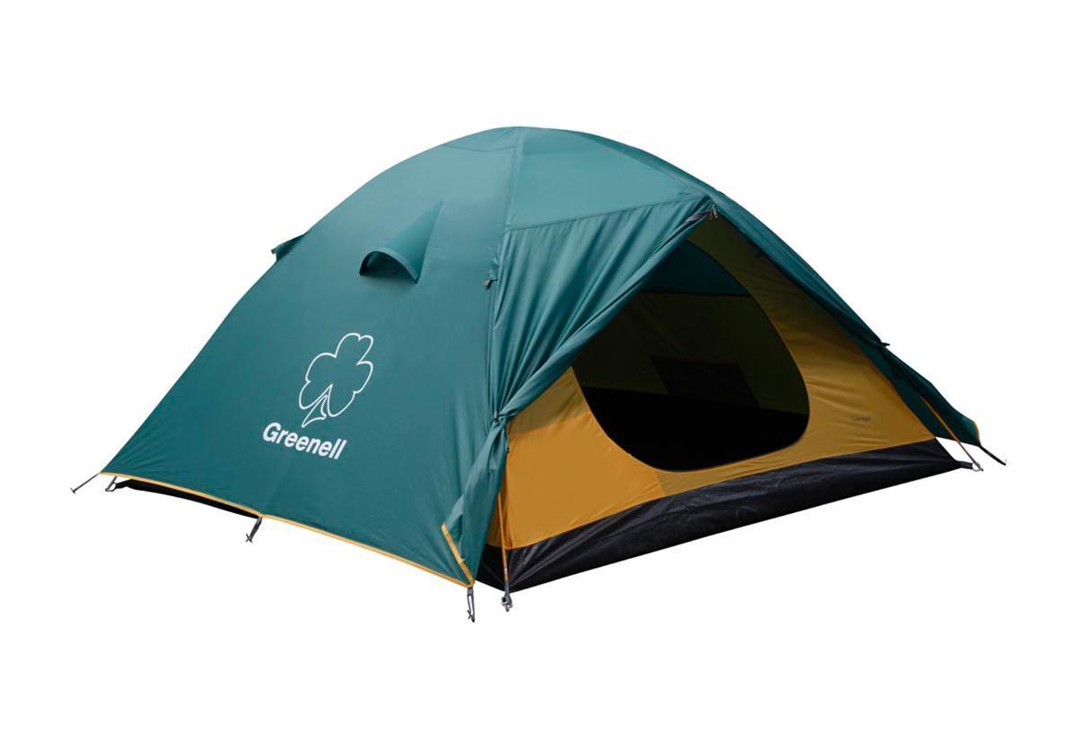 Палатка Greenell Гори 3 Green25393-303-00Универсальная палатка Greenell Гори 3 отлично подойдет для путешествий. Мобильно, комфортно, удобно! Проточная вентиляция. Имеет два входа и два тамбура. Особенности конструкции: Проклеенные швы Противомоскитная сетка Подвесная полка