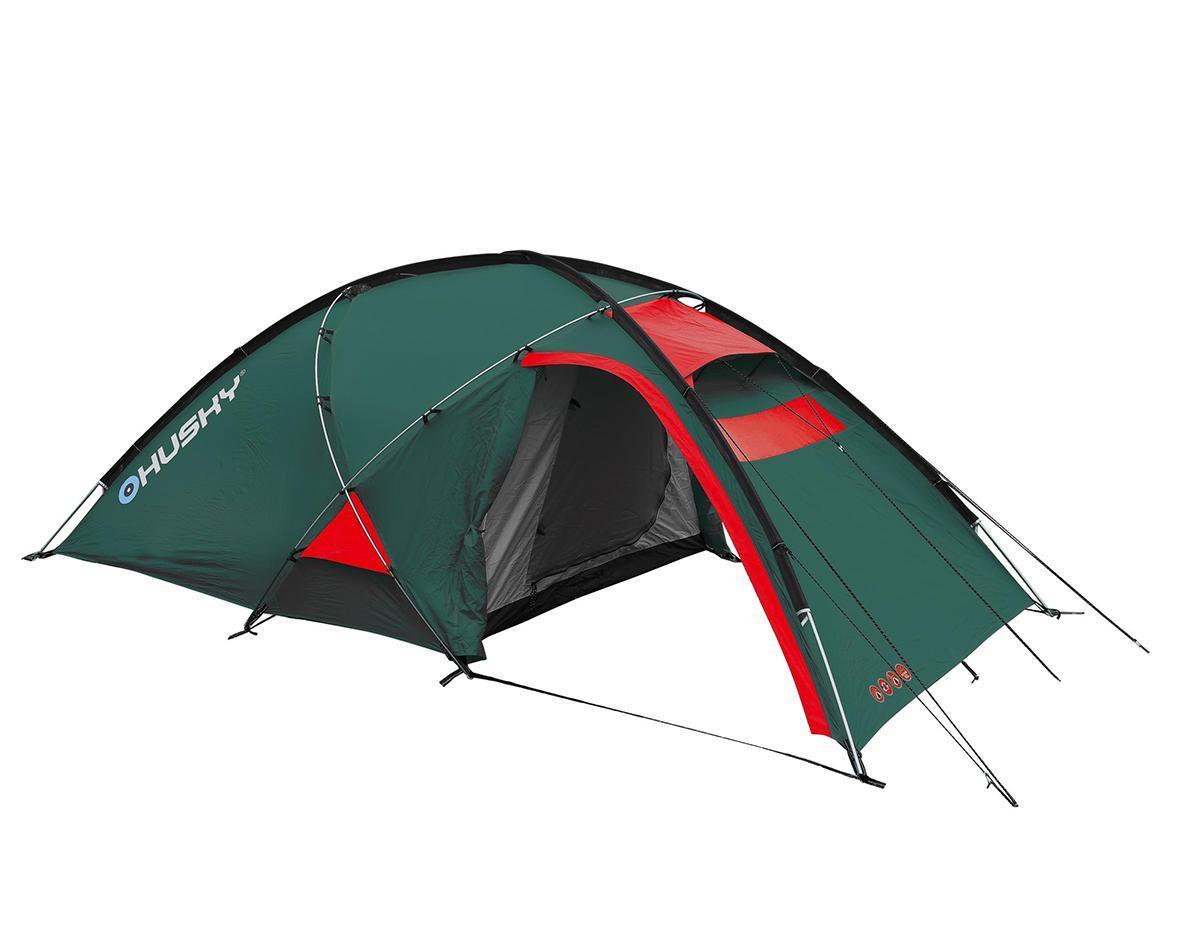 Палатка Husky Felen 2-3 Dark Green, цвет: темно-зеленыйУТ-000048323Трехсезонная просторная палатка Felen 2-3 отлично подойдет для путешествий. Палатка отличается хорошей устойчивостью, имеет два входа и просторный тамбур. В комплекте компрессионный мешок. Особенность конструкции платки состоит в системе фиксации несущих дуг благодаря внешней конструкции. Эта система основывается на карманах из ткани, сквозь которые продеваются дуги и петлях из усиленного пластика. Такой вид фиксации позволяет легко и быстро поставить палатку даже в экстремальных погодных условиях. Палатка комплектуется алюминиевыми колышками и комплектом для ремонта. Характеристики: Размер палатки: 340 см x 165 см х 120 см. Размер спального места: 210 см х 150 см. Материал внешнего тента: 210Т Polyester Ripstop с полиуретановым покрытием 6000 мм/см2. Материал внутреннего тента: воздухопроницаемый нейлон 210T, вставки из противомоскитной сетки. Материал пола: 190Т Polyester с полиуретановым покрытием 10000 мм/см2. Вес: 4,4 кг. Артикул: ...