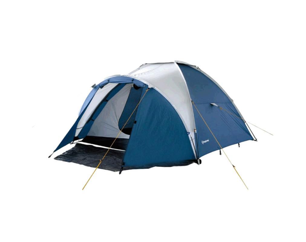 Палатка KingCamp Holiday 3 BlueУТ-000050871Палатка KingCamp Holiday 3 с вентиляционной и противомоскитной сеткой представляет собой двухслойную однокомнатную палатку с одним входом и одним тамбуром с внутренним расположением дуг. Внутренняя палатка выполнена из полиэстера, швы наружного тента проклеены. Вы несомненно оцените скорость, с которой может быть установлена эта палатка, и ее маленький транспортный объем. Идеально подходит для трех непривередливых туристов. Для пешего туризма и кемпинга. Палатка упакована в чехол. К палатке прилагаются - 25 колышков из стали, 9 строп для укрепленной растяжки. Характеристики: Количество мест: 3. Размер палатки: 320 см х 260 см х 140 см. Спальная комната: 220 см х 260 см. Количество входов: 1. Дуги из фибергласа: 8,5 мм. Материал внешнего тента: Polyester 185T 3000 mm с PU покрытием. Материал внутреннего тента: Polyester 180Т. Материал дна: Polyester 150D Oxford с PU покрытием 5000 mm. Размер палатки в собранном...