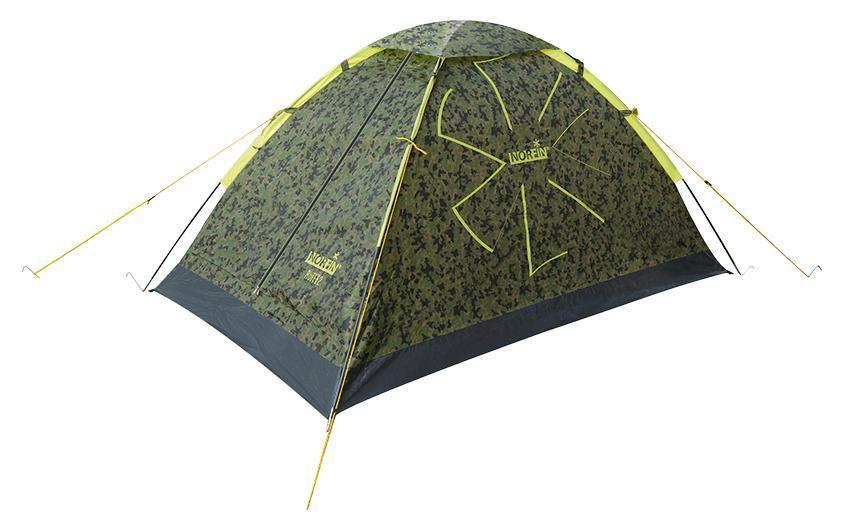 Палатка Norfin Ruffe 2 CamoNC-10101Однослойная дуговая палатка. Недорогая, легкая и компактная. Сохраняет комфорт при минимальном весе. Отлично подойдет для несложных походов и отдыха на природе. Особенности: -компактность и легкость; -вход один; -вход продублирован антимоскитной сеткой; -карман для мелочей; -крючок для подвески фонаря; -все швы палатки герметизированы при помощи термоусадочной водонепроницаемой ленты. Материал тента: Polyester 190T 70D PU; Материал внутренней палатки: 190T Polyester дышащий; Материал дна: PE 120 г/м2; Материал дуг: фиберглас, 8 мм.