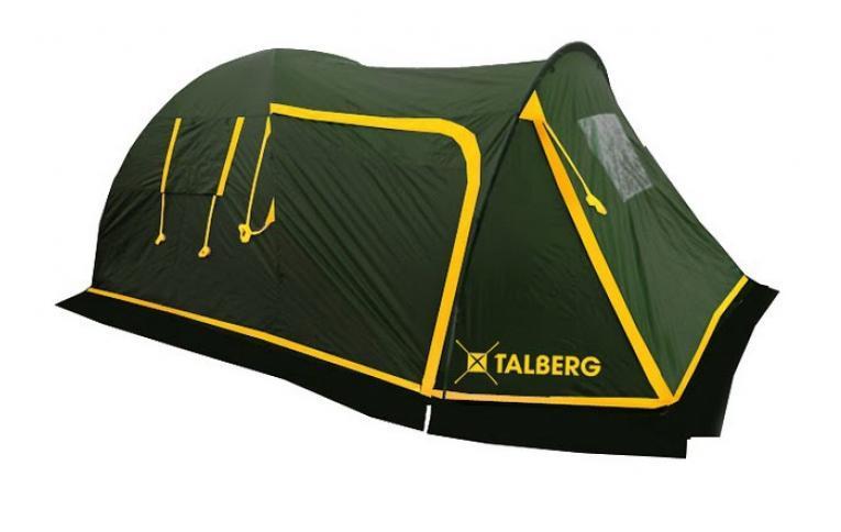 Палатка Talberg Blander 4УТ-000047011Комфортная кемпинговая палатка Talberg Blander 4 - идеальная палатка для велотуристов с большим спальным отделением, большим удобным тамбуром для велосипедов и/или багажа и юбкой от ветра и насекомых. Внутренняя палатка выполнена из дышащего полиэстера, швы наружного тента проклеены. Вы несомненно оцените скорость, с которой может быть установлена эта палатка. Идеально подходит для четырех туристов. Палатка упакована в сумку-чехол с ручками.