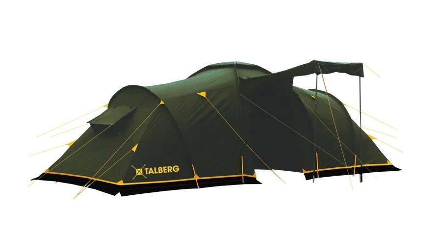 Палатка Talberg Base 4УТ-000046671Комфортная кемпинговая палатка Talberg Base 4 с двумя спальными отделениями, большим удобным тамбуром и ветрозащитной юбкой предназначена для пешего туризма и кемпинга. Внутренняя палатка выполнена из дышащего полиэстера, на входах в комнаты - москитные сетки, швы наружного тента проклеены, на входе в тамбур москитной сетки нет. Вы несомненно оцените скорость, с которой может быть установлена эта палатка. Идеально подходит для четырех туристов. Палатка упакована в сумку-чехол с ручками. Характеристики: Количество мест: 4. Размер палатки: 500 см х 220 см х 200 см. Спальная комната: 210 см х 140 см. Количество входов: 2. Дуги: HQ FiberGlass 11 мм + сталь 16 мм. Материал внешнего тента: полиэстер 190T/75D 4000 mm. Материал внутреннего тента: полиэстер. Материал дна: армированный полиэтилен. Размер палатки в собранном виде: 71 см х 19 см х 19 см. Вес: 12 кг. Изготовитель: Китай.