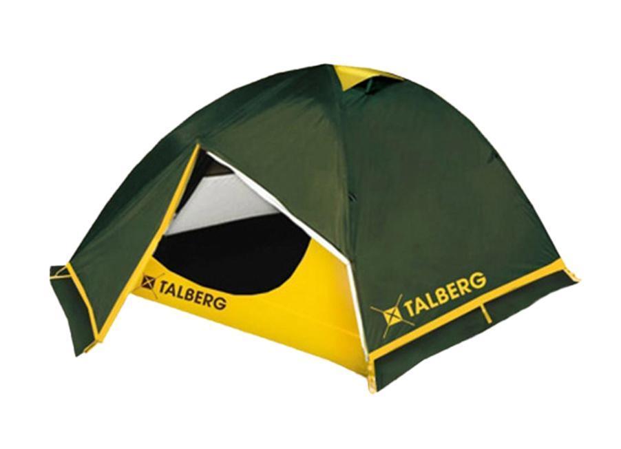 Палатка Talberg Boyard Pro 2, цвет: зеленыйУТ-000047191Легкая двухслойная палатка Talberg Boyard Pro 2 с двумя увеличенными тамбурами и юбкой от ветра и насекомых предназначена для пешего туризма и кемпинга. Внутренняя палатка выполнена из дышащего полиэстера, швы наружного тента проклеены. Вы несомненно оцените скорость, с которой может быть установлена эта палатка. Идеально подходит для двух туристов. Палатка упакована в сумку-чехол на застежке-молнии. Также прилагается инструкция по сборке палатки. В ремкомплект входят кусочки ткани, трубка для дуги и фастекс (защелка для чехла). Характеристики: Количество мест: 2. Размер палатки: 290 см х 230 см х 120 см. Спальная комната: 220 см х 150 см. Количество входов: 2. Дуги: Alu 7001 8,5 мм. Материал внешнего тента: Polyester RipStop 190T/75D 4000 мм. Материал внутреннего тента: полиэстер. Материал дна: Polyester 195T/85D 7000 мм. Размер палатки в собранном виде: 58 см х 17 см х 15 см. Вес: 2,4 кг. Изготовитель: Китай.