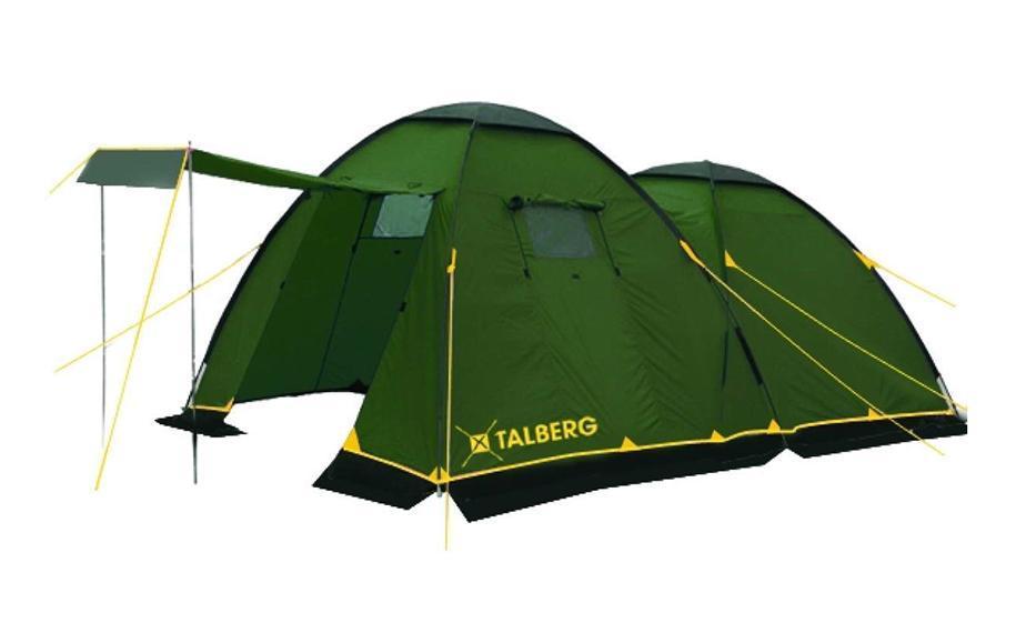 Палатка Talberg Spirit 4УТ-000052581Классическая кемпинговая палатка Talberg Spirit 4 с большим спальным отделением, большим удобным тамбуром и юбкой от ветра и насекомых предназначена для пешего туризма и кемпинга. Внутренняя палатка выполнена из дышащего полиэстера, швы наружного тента проклеены. Вы несомненно оцените скорость, с которой может быть установлена эта палатка. Идеально подходит для четырех туристов.