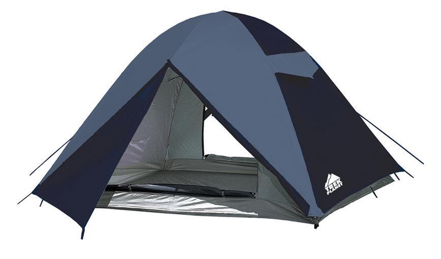 Палатка трехместная Trek Planet Alabama Air 3, цвет: синий70157Двухслойная трехместная палатка, с двумя входами с противоположных сторон палатки, Trek Planet Alabama Air 3. Хорошо проветривается и имеет два удобных тамбура. Особенности модели: Палатка легко и быстро устанавливается, Тент палатки из полиэстера, с пропиткой PU водостойкостью 2000 мм, надежно защитит от дождя и ветра, Все швы проклеены, Внутренняя палатка, выполненная из дышащего полиэстера, обеспечивает вентиляцию помещения и позволяет конденсату испаряться, не проникая внутрь палатки, Два входа во внутреннюю палатку с противоположных сторон, Москитная сетка на каждом входе в спальное отделение в полный размер двери, Вентиляционный клапан, Каркас выполнен из прочного стеклопластика, Дно изготовлено из прочного армированного полиэтилена, Внутренние карманы для мелочей, Возможность подвески фонаря в палатке. Палатка упакована в сумку-чехол с ручками, застегивающуюся на застежку-молнию. Размер в...