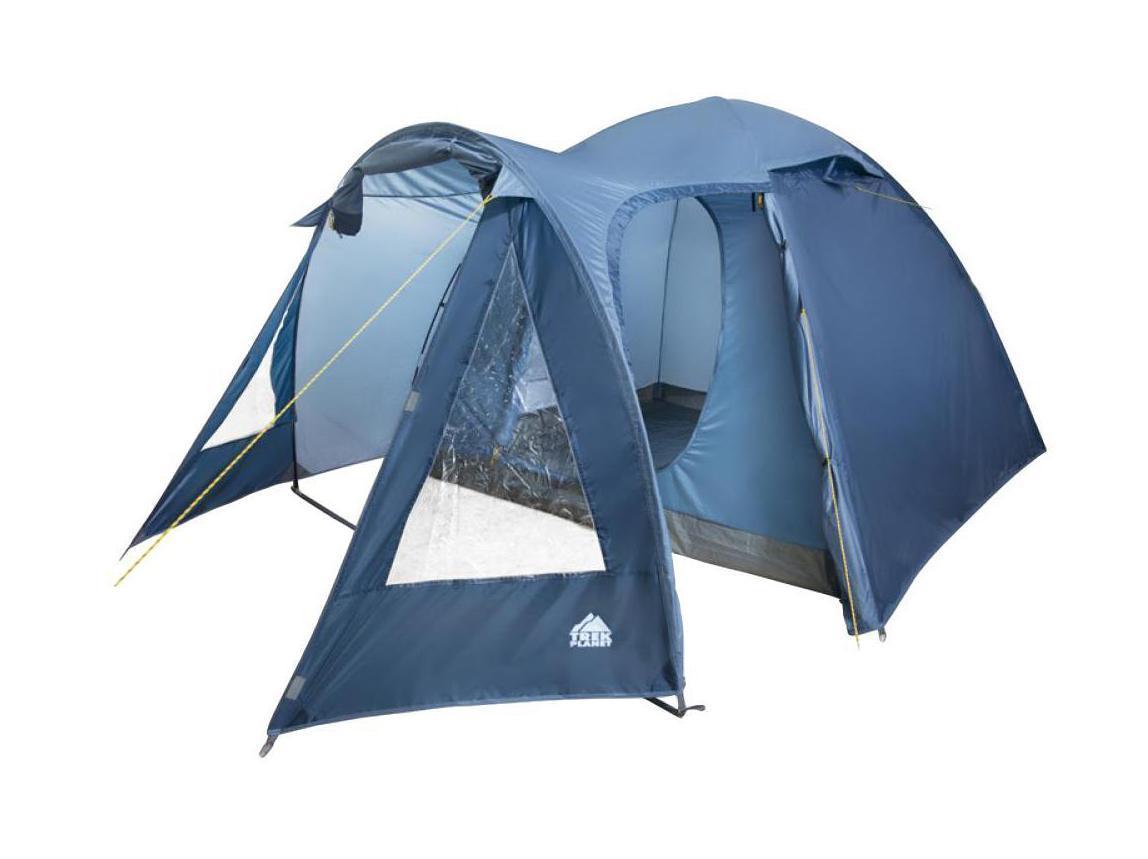 Палатка пятиместная TREK PLANET Tahoe 5, цвет: синий70189Пятиместная двухслойная кемпинговая высокая палатка TREK PLANET Tahoe 5 с хорошей вентиляцией и большим и светлым тамбуром, хорошо подойдет для кемпинга выходного дня или отдыха на природе с семьей. ОСОБЕННОСТИ МОДЕЛИ: - Простая и быстрая установка. - Тент палатки из полиэстера, с пропиткой PU водостойкостью 2000 мм, надежно защитит от дождя и ветра. - Все швы проклеены. - Просторный и высокий тамбур с двумя входами. - Большие обзорные окна со шторками в тамбуре. - Два больших вентиляционных окна. - Каркас выполнен из прочного стеклопластика. - Дно изготовлено из прочного армированного полиэтилена. - Внутренняя палатка, выполненная из дышащего полиэстера, обеспечивает вентиляцию помещения и позволяет конденсату испаряться, не проникая внутрь палатки. - Удобная D-образная дверь на входе во внутреннюю палатку. - Москитная сетка на входе в спальное отделение в полный размер двери. - Внутренние карманы для...