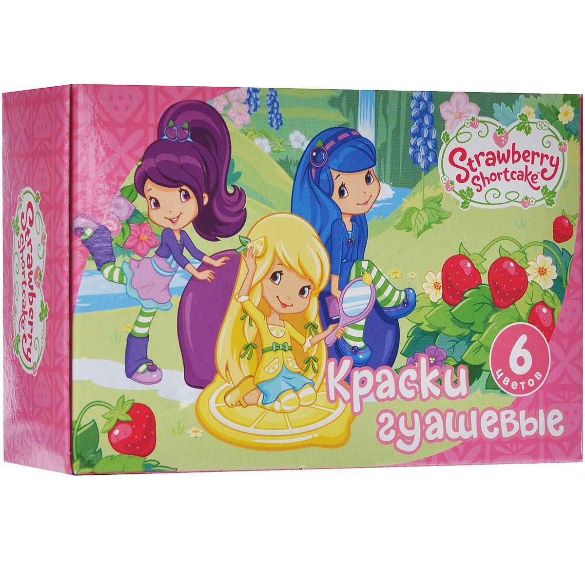 Гуашь Action! Strawberry Shortcake, 6 цветовSW-GP-6Гуашь Action! Strawberry Shortcake предназначена для декоративно-оформительских работ и творчества детей. В набор входят краски шести цветов: черного, зеленого, синего, белого, красного и желтого. Они легко наносятся на бумагу, картон и грунтованный холст. При высыхании приобретают матовую, бархатистую поверхность.